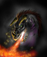 Black Dragon speedpainting by FuriarossaAndMimma