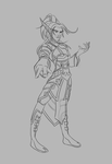 Blood elf male mage lineart by ChocoMonsterKid