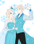 The King and Queen of Snow by FMA-Vocaloid-Fan