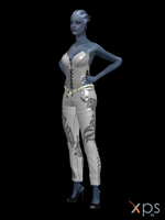 Liara White Outfit (XPS Model) by Grummel83