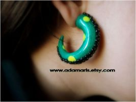 shipwreck tentacle earring by AdamarisCrafts