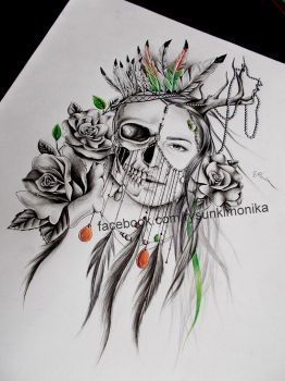 tattoo design- woman by mydrawings11
