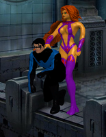 Nightwing X Starfire by TheDeadstroke