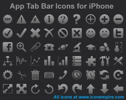 App Tab Bar Icons for iPhone by shockvideo