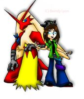 Ditto and Blaze the Blaziken by TheDocRoach