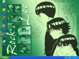 Naruto - Rock Lee Desktop by tenko72