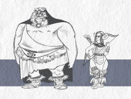 Orc Characters by AniseShaw