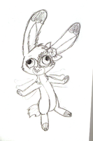 Buttercream Bunny Scetch by Little-Painter