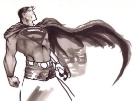Superman Copic Marker Sketch by RichardCox