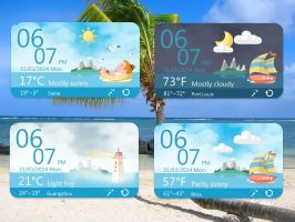 Blue Sea Weather for xwidget by jimking
