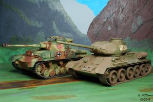 T34-85 and Panzer IV by 12jack12