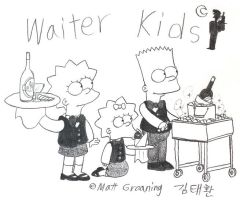 Waiter Kids by komi114