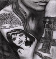 Tattoos of Axl Rose by MonalisaBorges
