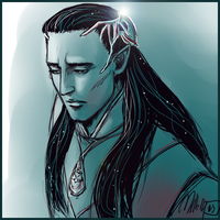 Gil-Galad doodle by MellorianJ
