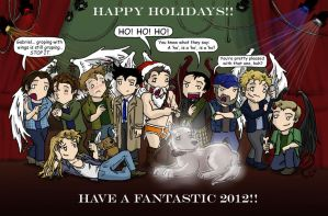 SPN: Festive Fun by blackbirdrose