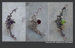 Siren ear cuff variations by bodaszilvia