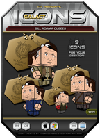 Bill Adama Cubee Icons - Win by BSG75