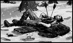Unlucky Traveler [Animated, Grayscale] by Anax253