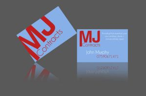 MJ Construction Business Card by RonanMcS