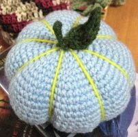 Crochet Random Blue Pumpkin by neonjello17