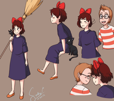 .:Kiki's Delivery Service Sketches:. by Patsuko