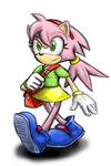 Young Amy Rose redesign by Cody-Church