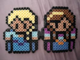 Anna and Elsa by PerlerHime