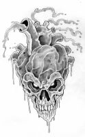 Skull Heart 2 by scottkaiser