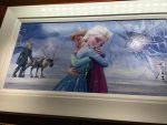 Anna and Elsa Painting by montey4