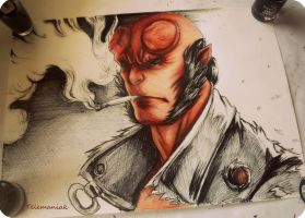 hellboy by Telemaniakk