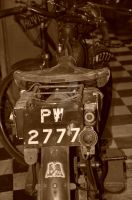 an old bike sepia by tazy01