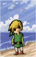 Zelda - Alone at the beach by XMenouX
