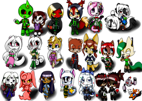 All These Chibis by Mongoosegoddess