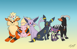 Poke-family - Tsuki Commission. by SilverShadowfax
