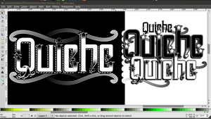 Quiche typeface screenshot by QuicheLoraine