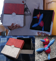 Pokebox and Porygon Papercraft by InvisibleJune