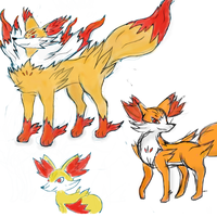 fennekin evolution line by roblee96