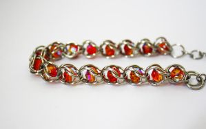 Caged Bead Chainmaille Bracelet by VioletsInEden