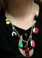 Sushi necklace worn by ElectricDinoSaur