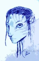 AVATAR :: Simple Na'vi sketch by tsareia