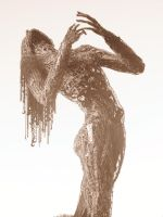 Burning Man Statue in Sepia by EmilePoivet