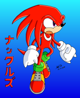 Knuckles Fight Pose by Rapid-the-Hedgehog