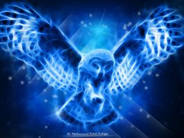 Owl Fractalius by Dhikgital