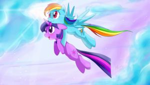 Twidash Flight Scene of Friendship by derpiihooves
