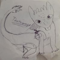 Toothless sketch by Animalove6