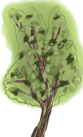 Green tree preview by ginbearhound1