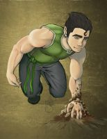 Earthbender Bolin by JeiVeeAich