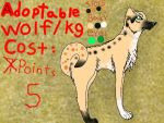 Adoptable k9 ON SALE! by AnimalLoverAsh