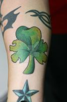 Shifty's 3 Leaf Clover by Lucky-Cat-Tattoo