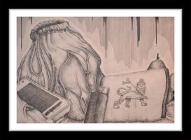 Pen and Ink Still life by DrFazer